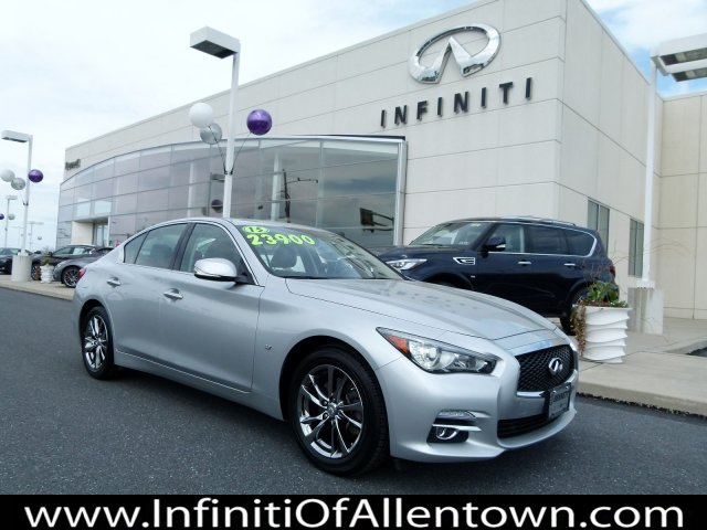 Pre-Owned 2015 INFINITI Q50 4DR SDN AWD With Navigation & AWD